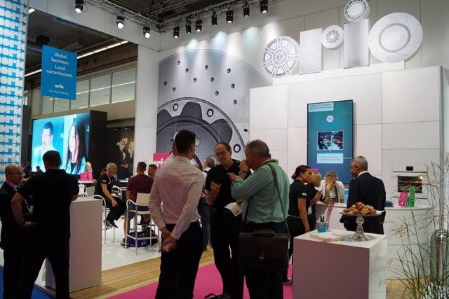 Busy Orio booth at Automechanika