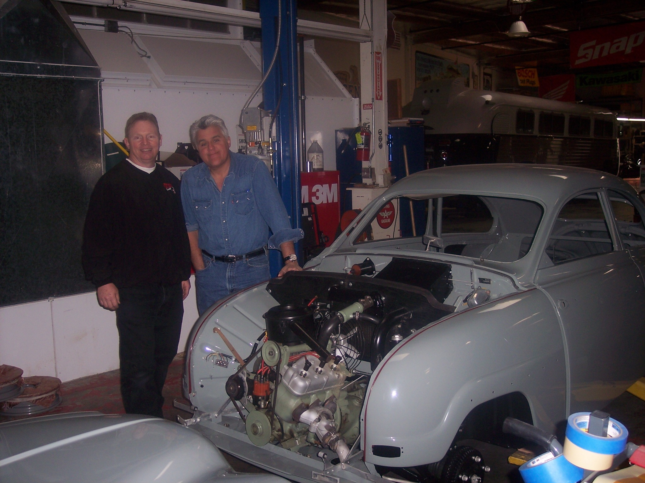 Tom Donney and Jay Leno
