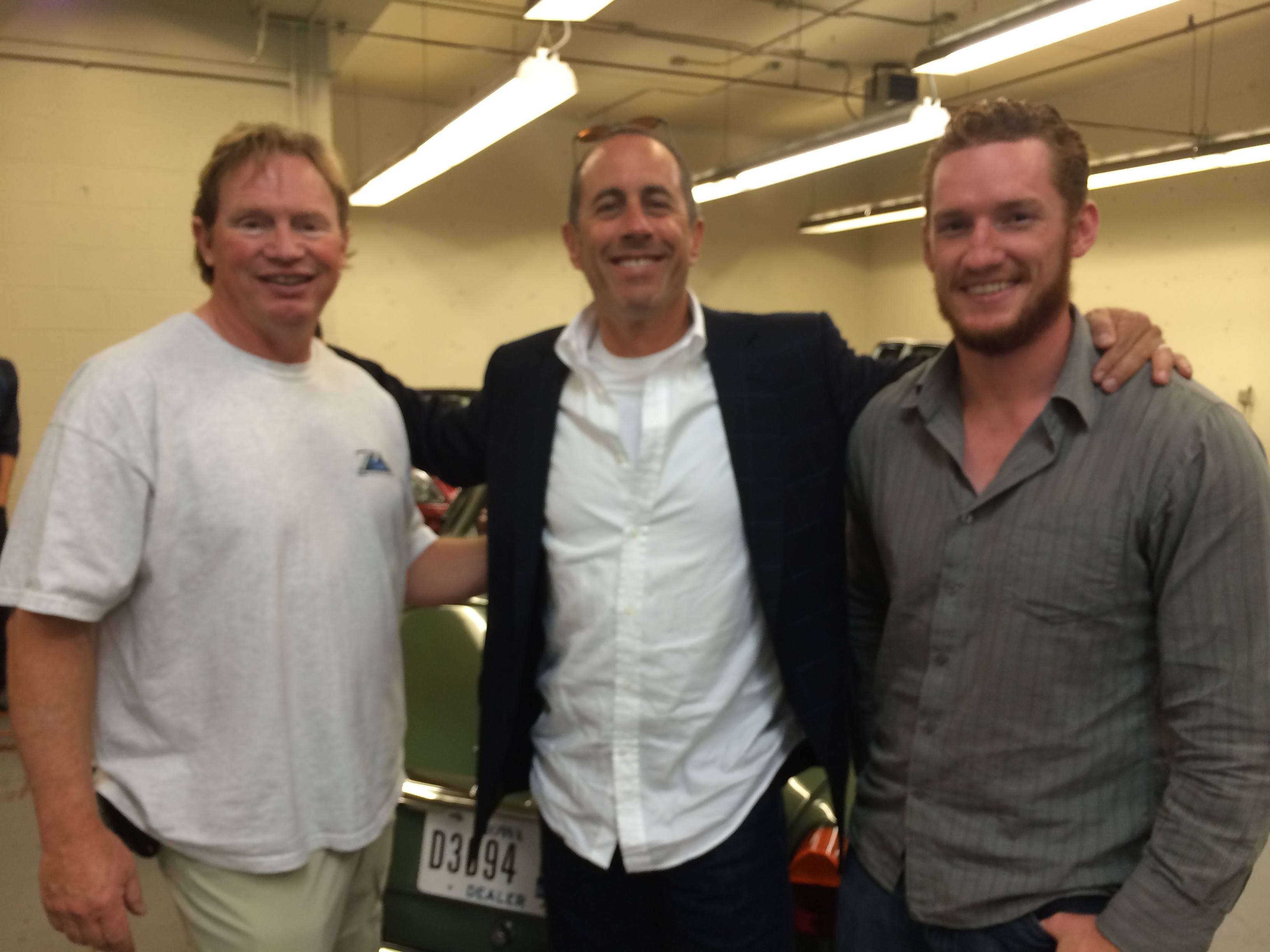 Tom and his son Nate with Jerry Seinfeld