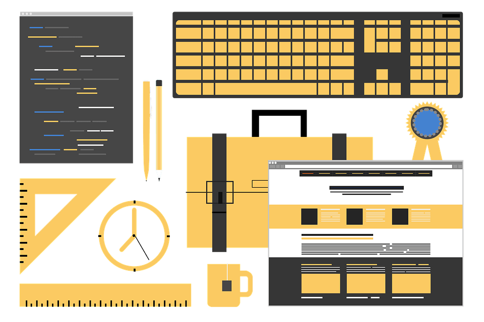 icons of design tools and website